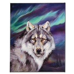 """""""Wolf Lights II"""" Limited Edition Giclee on Canvas by Martin Katon, Numbered and Hand Signed. This pi"""