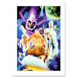 """Stan Lee Signed, """"Fantastic Four #545"""" Numbered Marvel Comics Limited Edition Canvas by Michael Turn"""
