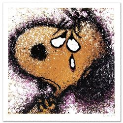 """""""The Tear"""" Limited Edition Hand Pulled Original Lithograph by Renowned Charles Schulz Protege, Tom E"""