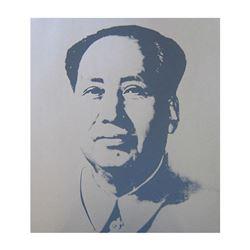 "Andy Warhol- Silk Screen ""Mao-Silver"""