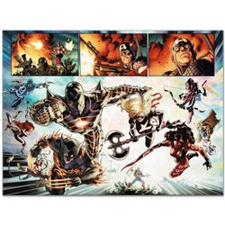 """Marvel Comics """"Fear Itself #7"""" Numbered Limited Edition Giclee on Canvas by Stuart Immonen with COA."""