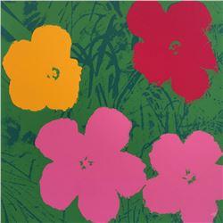 "Andy Warhol- Silk Screen ""Flowers 11.68"""