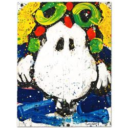 """""""Ace Face"""" Limited Edition Hand Pulled Original Lithograph by Renowned Charles Schulz Protege, Tom E"""