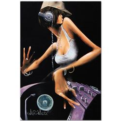 """""""DJ Free"""" Limited Edition Giclee on Canvas by David Garibaldi, R Numbered and Signed. This piece com"""