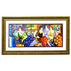 """Patricia Govezensky- Original Watercolor """"Party of Four"""""""