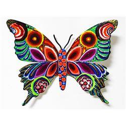 "Patricia Govezensky- Original Painting on Cutout Steel ""Butterfly CCXLIV"""