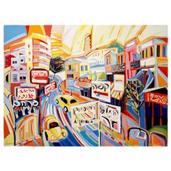 "Natalie Rozenbaum, ""Allenby Scene"" Limited Edition on Canvas, Numbered and Hand Signed with Letter o"