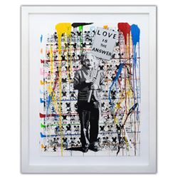 "Mr. Brainwash (Born 1966)- Original Mixed Media on Paper ""Einstein no. 1, 2015"""