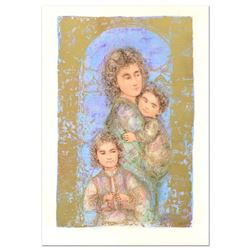 "Edna Hibel (1917-2014), ""Catherine and Children"" Limited Edition Lithograph, Numbered and Hand Signe"