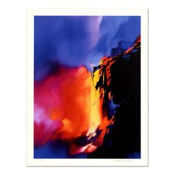 "Thomas Leung, ""Fire Cliffs"" Limited Edition, Numbered and Hand Signed with Letter of Authenticity."