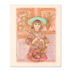 "Edna Hibel (1917-2014), ""Wendy the Youngest Docent"" Limited Edition Lithograph, Numbered and Hand Si"