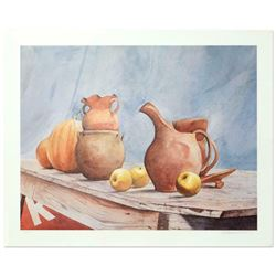 "William Nelson, ""Pottery Still Life"" Limited Edition Lithograph, Numbered and Hand Signed by the Art"