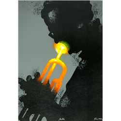 "Waldemar Swierzy (1931-2013)- Hand Pulled Original Lithograph ""Miles"""