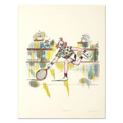 "George Crionas (1925-2004), ""Tennis Bum"" Hand Embellished Limited Edition Lithograph, Numbered and H"