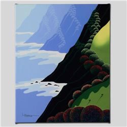 """Emerald Cliffs"" Limited Edition Giclee on Canvas by Larissa Holt, Numbered and Signed. This piece c"