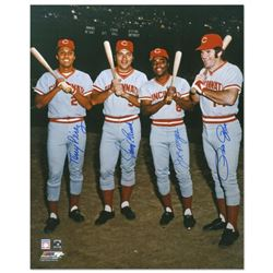 """The Big Four"" Photograph Autographed by the Big Red Machine's Johnny Bench, Tony Perez, Joe Morgan,"