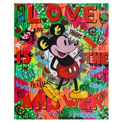 "Nastya Rovenskaya- Mixed Media ""The Answer is Love"""