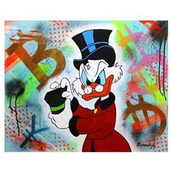 "Nastya Rovenskaya- Original Oil on Canvas ""Counting Money"""