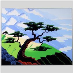 """Cows, Coast, Tree"" Limited Edition Giclee on Canvas by Larissa Holt, Numbered and Signed. This piec"