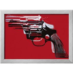 "Andy Warhol ""Guns"" Custom Framed Offset Lithograph"