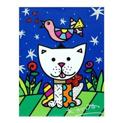 "Romero Britto ""Pals"" Hand Signed Limited Edition Giclee on Canvas; Authenticated"