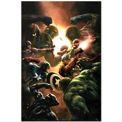 "Marvel Comics ""New Avengers #43"" Numbered Limited Edition Giclee on Canvas by Aleksi Briclot with CO"
