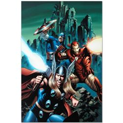"Marvel Comics ""Thor #81"" Numbered Limited Edition Giclee on Canvas by Steve Epting with COA."