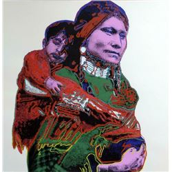 "Andy Warhol- Screenprint in colors ""Mother and Child"""