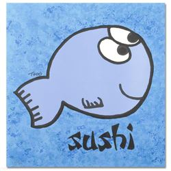 """""""Sushi"""" Limited Edition Lithograph by Todd Goldman, Numbered and Hand Signed with Certificate of Aut"""