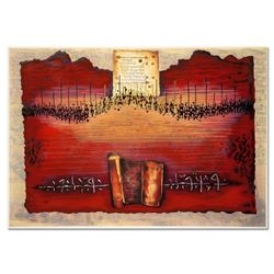 """Moshe Castel, """"Land of Canaan"""" Limited Edition Gold Embossed Serigraph with Letter of Authenticity."""