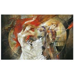 """Lena Sotskova, """"Timeless"""" Hand Signed, Artist Embellished Limited Edition Giclee on Canvas with COA."""