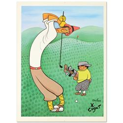 """Xavier Cugat (1900-1990), """"Skinny Golfer"""" Limited Edition Lithograph, Numbered and Plate Signed with"""