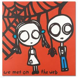 """""""We Met on the Web"""" Limited Edition Lithograph by Todd Goldman, Numbered and Hand Signed with Certif"""