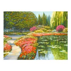 """Howard Behrens (1933-2014), """"The Colors Of Giverny """" Limited Edition on Canvas, Numbered and Signed"""