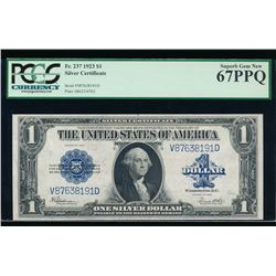 1923 $1 Silver Certificate PCGS 67PPQ