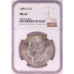 1883-O $1 Morgan Silver Dollar Coin NGC MS62 Amazing Reverse Toning