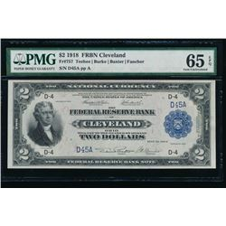 1918 $2 Cleveland Federal Reserve Bank Note PMG 65EPQ