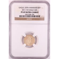2011-W $5 Proof American Gold Eagle Coin NGC PF69 Ultra Cameo
