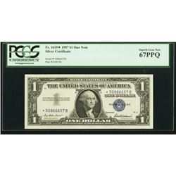 1957 $1 Silver Certificate STAR Note PCGS 67PPQ