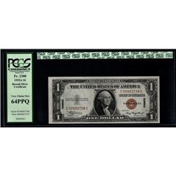 1935A $1 Low Serial Hawaii Silver Certificate PCGS 64PPQ