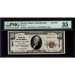 1929 $10 Kennett National Bank Note PMG 35