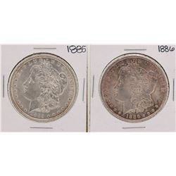 1885-1886 $1 Morgan Silver Dollar Coins