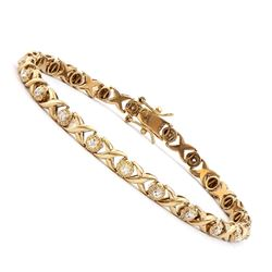 Plated 18KT Yellow Gold 0.21ctw Diamond Bracelet