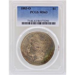 1883-O $1 Morgan Silver Dollar Coin PCGS MS63 Great Toning