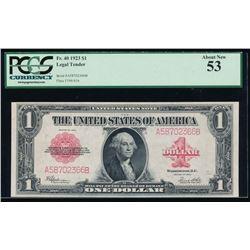 1923 $1 Legal Tender Note PCGS 53