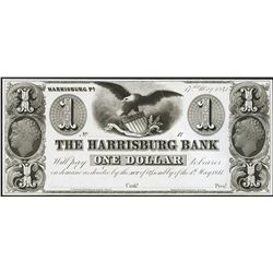 1841 $1 Harrisburg Bank Note