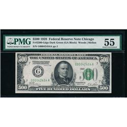 1928 $500 Chicago Federal Reserve Note PMG 55