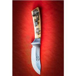 Ram Horn Skinning Knife by Brian Phillips