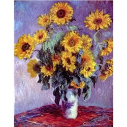 Claude Monet - Still Life with Sunflowers