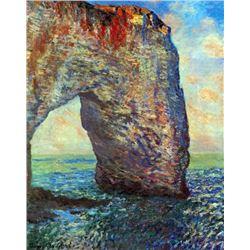 Claude Monet - The Rocky Cliffs of �tretat (La Porte Man) [2]